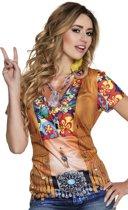 3 stuks: Fotorealistisch shirt - Hippie / Flower power - Large