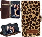 Bouletta Lederen Apple iPhone X / Xs Hoesje - Book Case - Leopard