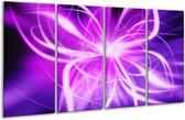 Glasschilderij Modern | Paars, Wit | 160x80cm 4Luik | Foto print op Glas |  F004875