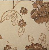 Dutch Wallcoverings vliesbehang bloem - bruin/goud