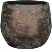 Mica Decorations - clemente ronde pot koper - maat in cm: 31 x 38
