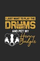 I Just Want To Play The Drums And Pet My Honey Badger