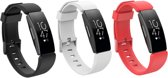 KELERINO. Siliconen bandjes - Fitbit Inspire (HR) - 3-pack - Small