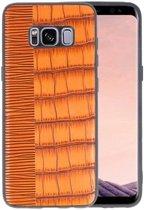 Croco Bruin hard case hoesje voor Samsung Galaxy S8