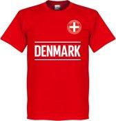 Denemarken Team T-Shirt - Rood - XL
