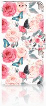 Book Cover Huawei P30 Lite Butterfly Roses