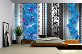 Blue | Gray Photomural, wallcovering