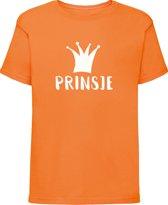 Oranje shirt Koningsdag | Prinsje| Maat 122-128