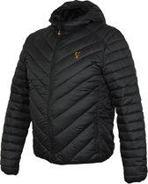 Fox Collection Quilted Jacket - Black Orange - Maat XXL
