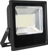 Led bouwlamp 100 watt warm licht zwarte behuizing