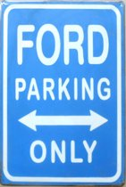 Wandbord - FORD parking only -20x30cm-