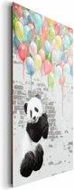 Panda ballonnen  - Schilderij 60 x 90 cm