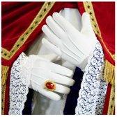 witte handschoenen - katoen de luxe - sint - XXL
