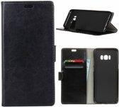 GSMWise - Samsung Galaxy S8 PU lederen TPU Portemonnee hoesje met Kaarthouder - Zwart