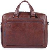 Piquadro Blue Square S Matte Portfolio Computer Briefcase Dark Brown