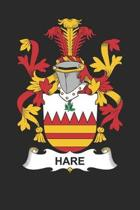 Hare: Hare Coat of Arms and Family Crest Notebook Journal (6 x 9 - 100 pages)
