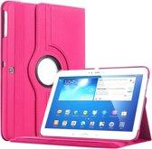 Samsung TAB 3 10.1  hoesje 360 graden draaibaar met  Multi-stand -Roze