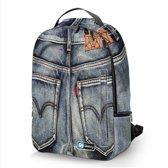 Laptop rugzak 17,3 Deluxe spijkerbroek - Sleevy - schooltas