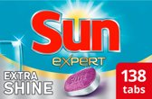 Sun All-in-1 Extra Shine vaatwastabletten - 138 stuks - Schitterende Glans