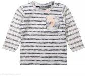jongens Kledingset Dirkje longsleeve Control of Power soft peach stripe maat 92 8719052405771