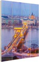 Boedapest Oost-Europa Hout 80x120 cm - Foto print op Hout (Wanddecoratie)
