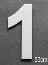 Grote RVS Huisnummers | Hoogte 50cm XXXL | 5 jaar garantie | Nummer 1