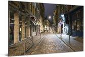 Verlichting in de straten van de Franse stad Rijsel Aluminium 90x60 cm - Foto print op Aluminium (metaal wanddecoratie)