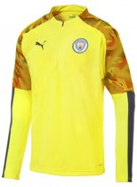 Manchester City FC Trainingstop 1/4 Rits Yellow