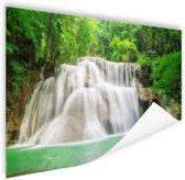 Huaymaekamin waterval Poster 90x60 cm - Foto print op Poster (wanddecoratie)