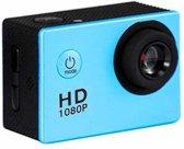 HAMTOD HF40 Sportcamera met 30 m onderwaterbehuizing, Generalplus 6624, 2,0 inch LCD-scherm (blauw)