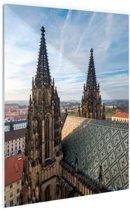 Twee Torens in Praag Glas 20x30 cm - Foto print op Glas (Plexiglas wanddecoratie)