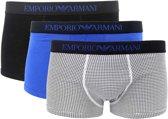 Emporio Armani Trunk Boxershorts Heren  Sportonderbroek - Maat S  - Mannen - zwart/blauw/wit