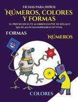 Fichas para ni os (Libros para ni os de 2 a os - Libro para colorear n meros, colores y formas)