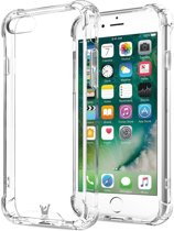 Hoesje Transparant voor Apple iPhone 8, iPhone 8 Siliconen Shock Proof Hoesje Case met Versterkte rand, Cover iPhone 8, Doorzichtig Gel TPU Hoesje Backcover