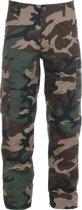 BDU Broek Woodland camouflage maat XXS
