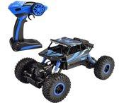 Bestuurbare RC Auto voor Binnen & Buiten 4WD 2.4Ghz 1/18 – Afstandsbestuurbare Auto voor Kind en Volwassenen Oplaadbaar Met Afstandsbediening + Oplader – Vanaf 3 Jaar, Blauw