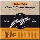Set van 6 Nickel Plated Stalen Elektrische Gitaar Snaren - Gauge Regular/Heavy