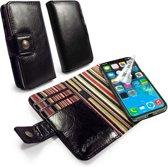 Alston Craig Vintage lederen portemonnee met magnetisch hoesje - Apple iPhone X of XS - met RFID bescherming- zwart