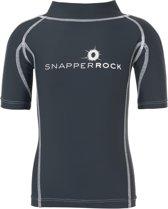 Snapper Rock Unisex UV-zwemshirt  - Donkerblauw / Wit - Maat 116-122