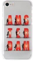 iPhone 6/6s cover Amsterdam Red Light Girls white souvenir gift backcover
