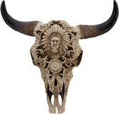 Buffalo Skull Indiaan - Bizonschedel Polyester - 37x37 cm - Dielay