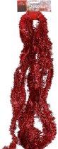 Dunne rode folie kerstversiering slinger 500 x 5 cm