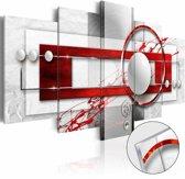 Afbeelding op acrylglas - Energie, Rood,  5luik