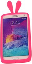 Roze Bumper Konijn Small Frame Case Hoesje voor Huawei Ascend P7