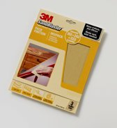 3M™ SandBlaster™ Schuurpapier vellen, 69025, Geel, 23 cm x 28 cm, P180/P240/P320, 3 vellen