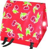 Du Baj large Luxe Cherry Red - Dubbele Fietstas - Achter - 45 l - rood