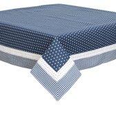 Clayre & Eef - Tafelkleed  tafellaken - Twinkle Little Star - Blauw - 100 x 100 cm