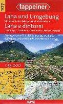 3D- Wanderkarte Lana und Umgebung 1 : 35.000