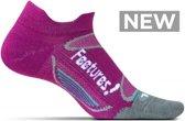 Feetures - Elite Merino Ultra Light No Show Tab - Hardloopsokken - Sportsokken - Paars/Wit - 34 t/m 37