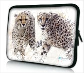 Laptophoes 14 inch luipaarden - Sleevy - Laptop sleeve - Macbook hoes - beschermhoes
